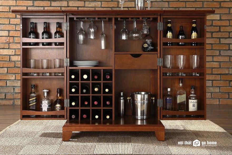 Mẫu tủ rượu phòng khách đẹp