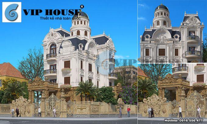 Thiết kế biệt thự kiểu Pháp