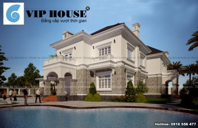 Biệt thự kiểu Pháp 2 tầng đẹp mãn nhãn tại Quảng Ninh